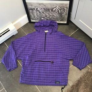 LL Bean Vintage Windbreaker Oversized Purple LG